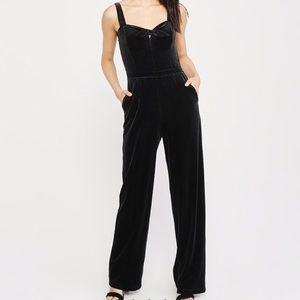 Black Velvet Dressy Jumpsuit